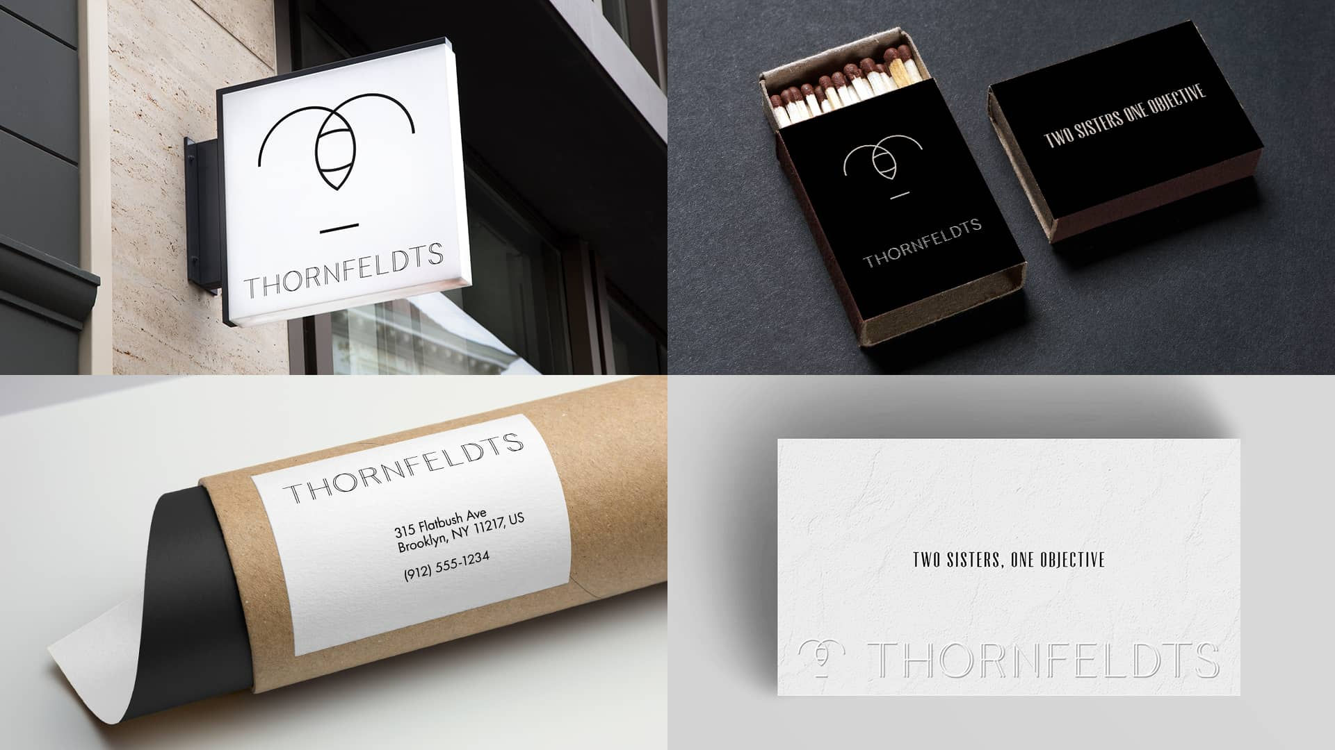 Maria and louise thornfeldt branding elements